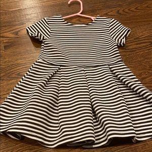 New Joe Fresh black & white striped dress size 3